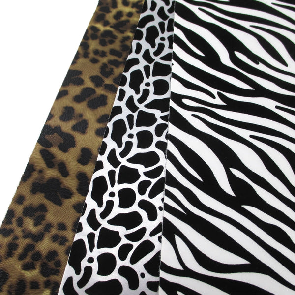 "Faux Leather Fabric (8"" x 13"") Animal Skin Design"