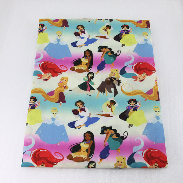 "Polyester Cotton Fabric (20"" x 57"") Cartoon Patchwork"