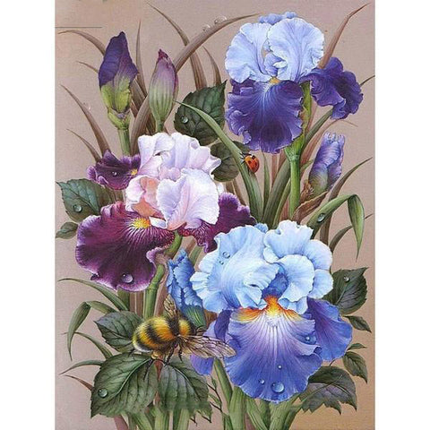 Flowers Bees Diamond Painting