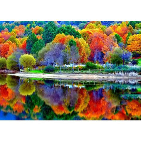 5D Diamond Painting Autumn Pond