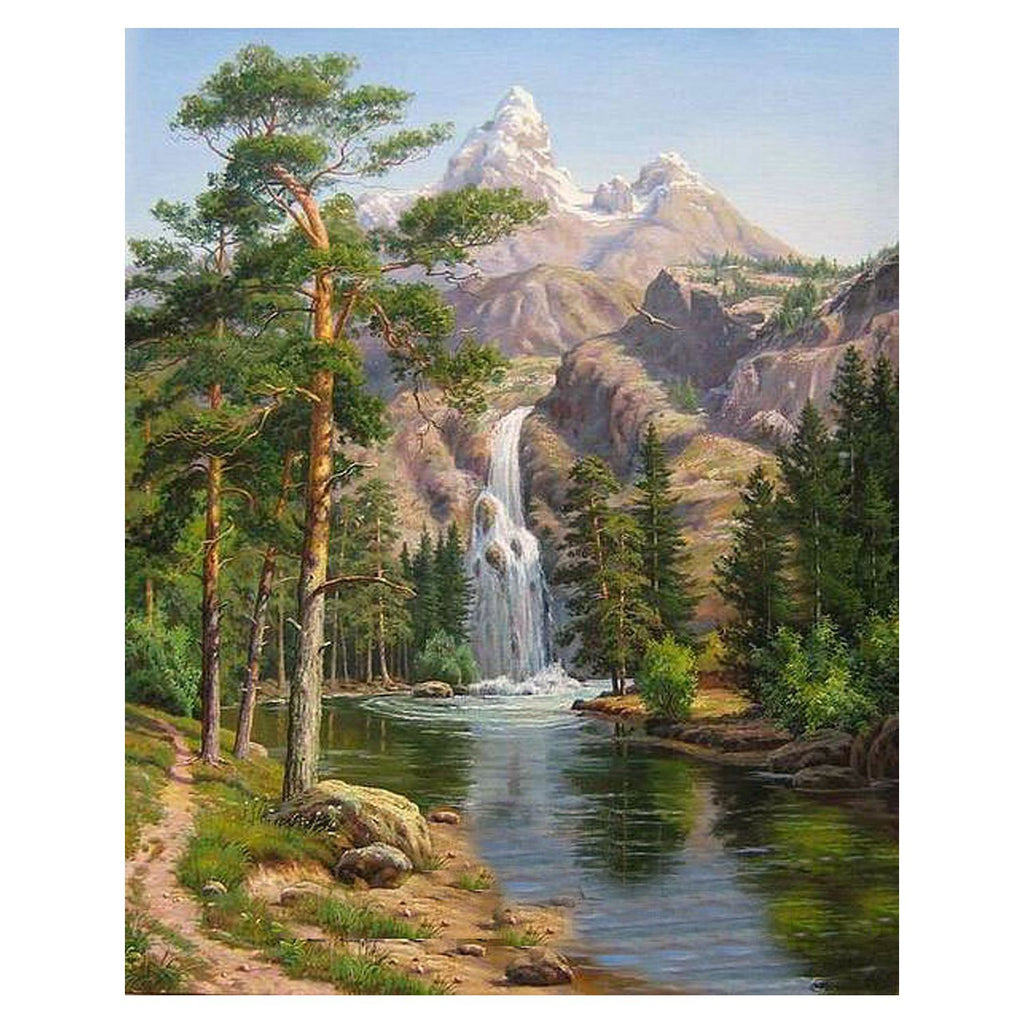Oil Painting by Numbers Kits -Stone Pines Landscape