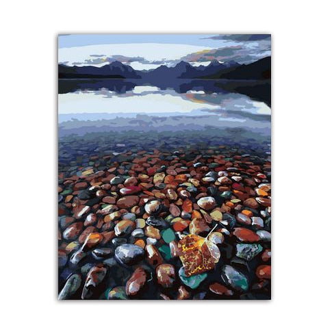Oil Painting by Numbers Seaside Stones
