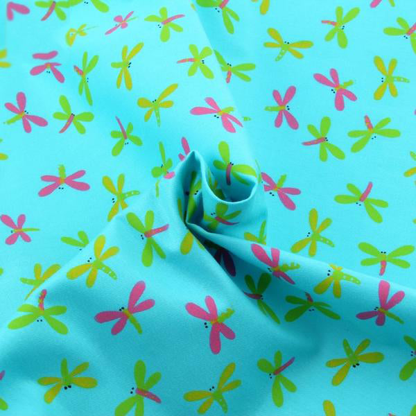 "4pcs Cotton Fabric (16"" x 20"") Dragonfly Design"