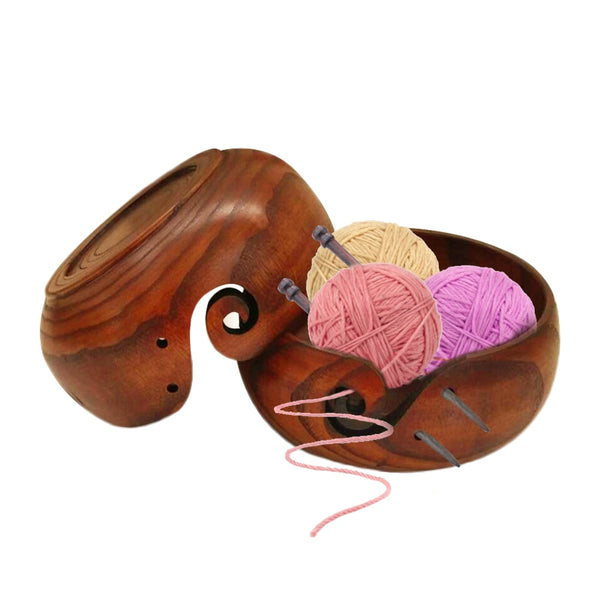 Eco-friendly Wooden Yarn Storage Bowl Organizer