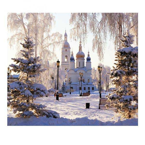 Diamond Embroidery Snow Scenery Full Square