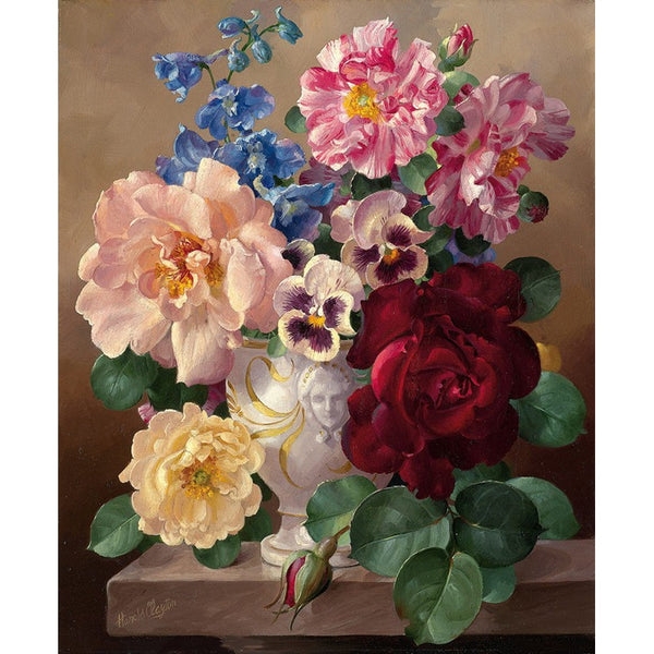 Frameless Picture Vintage Flower Painting By Numbers