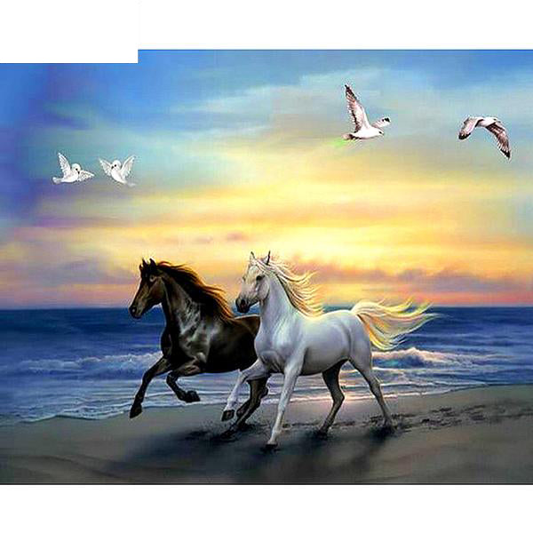 "5D Diamond Painting""Run the Horse"""