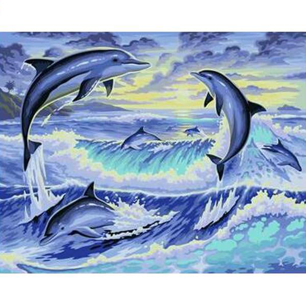 Painting By Numbers Dolphin Animals