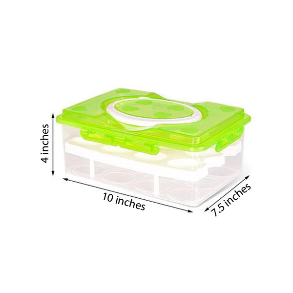 24 Grid Egg Box Food Container