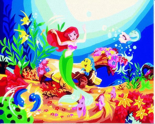 Painting By Numbers  HQ Lovely Mouse Fish Friends