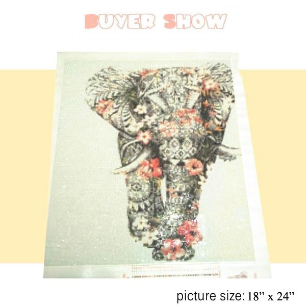 5D Diamond Painting Elephant Diamond Mosaic