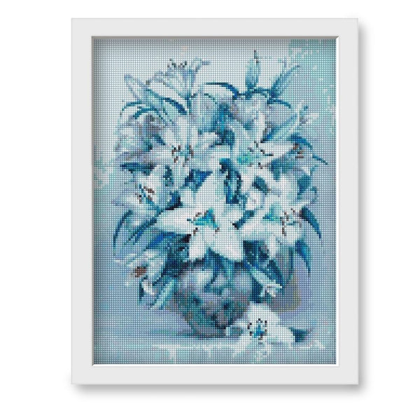 5d Diamond Painting Full Drill Square Flower Lily Picture