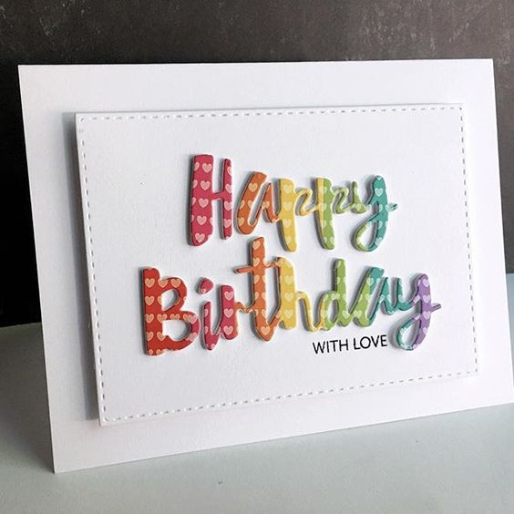 Happy Birthday Words Metal Cutting Dies Stencil