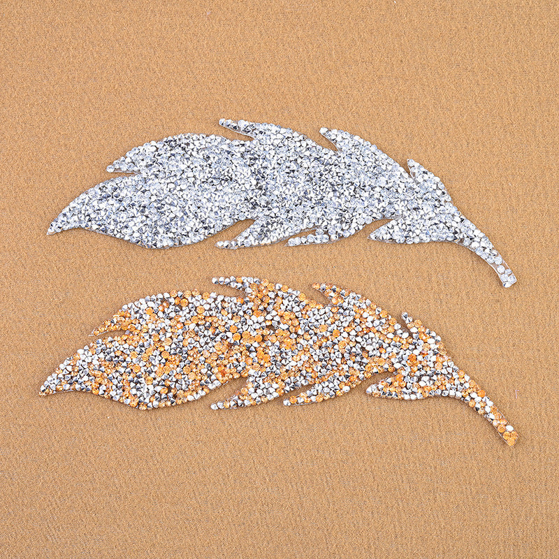 High Quality Rhinestone Leaves Patches