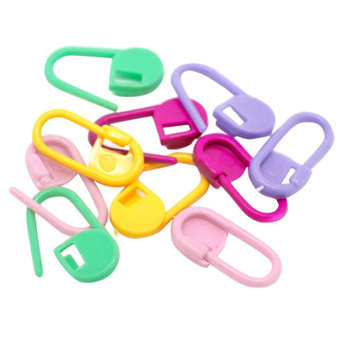 20PCs Colorful Plastic Stitch Marker Ring Holders Needle Clip