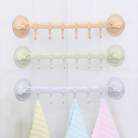 6 Hooks Storage Hanger Rack Wall Mounted