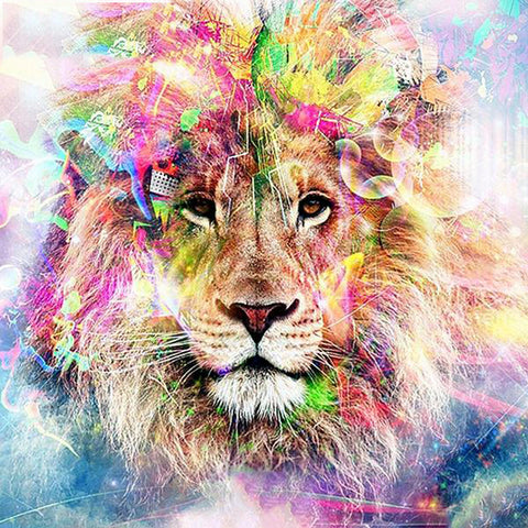 5d Diamond Painting Full Drill Square Lion