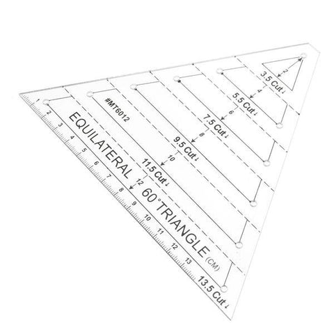 60 degree Triangle Quilting Ruler