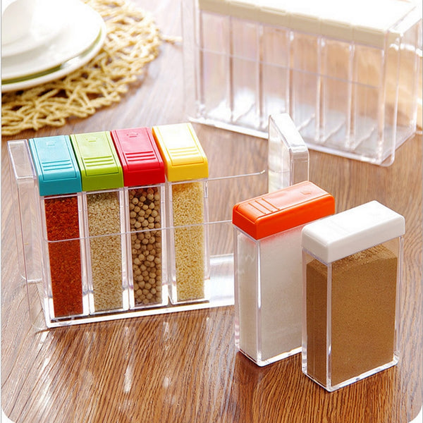 Kitchen Seasoning Bottles Jars Boxes