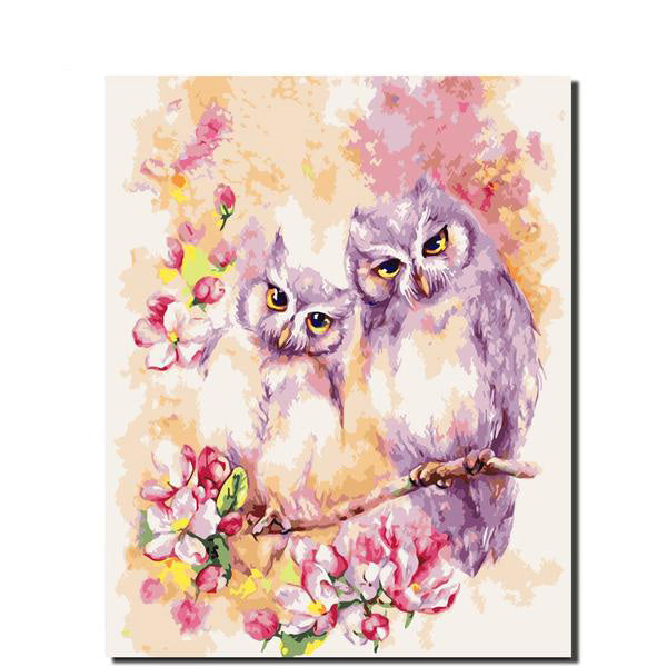 Painting By Numbers Owl Animals Acrylic Picture