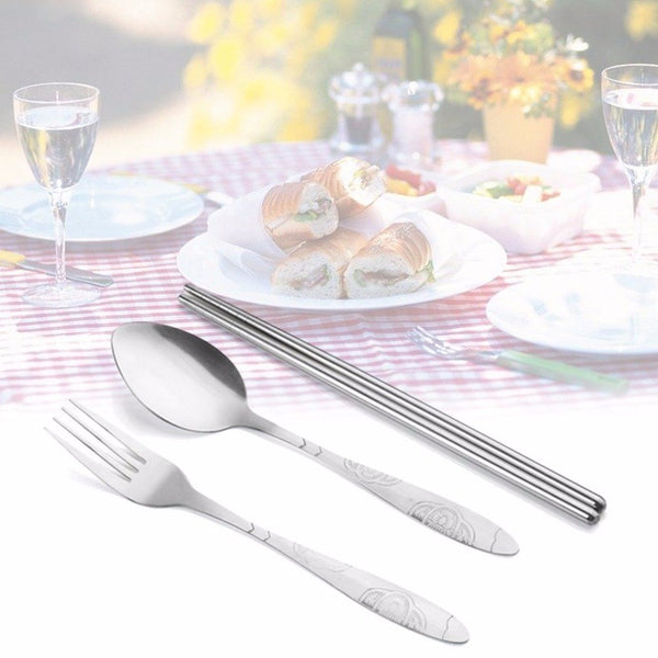 3Pcs Stainless Steel Cutlery Set
