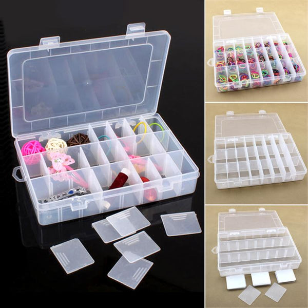24 Compartment Storage Box Practical Adjustable Plastic Case