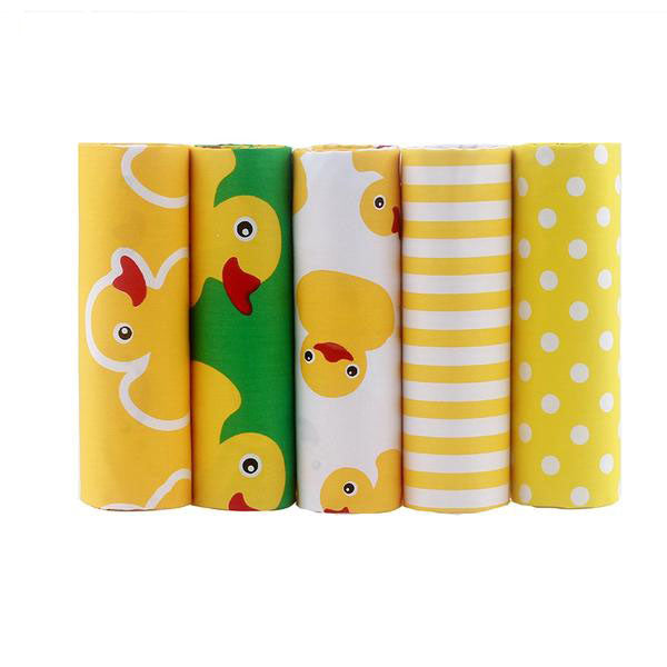 "5 Pcs Patchwork Cloth Teramila (16"" x 20"") Duck and Dots Collection"