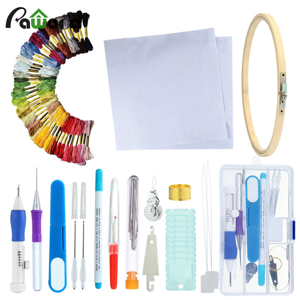 Magic Embroidery Stitching Punch Needles Pen Set
