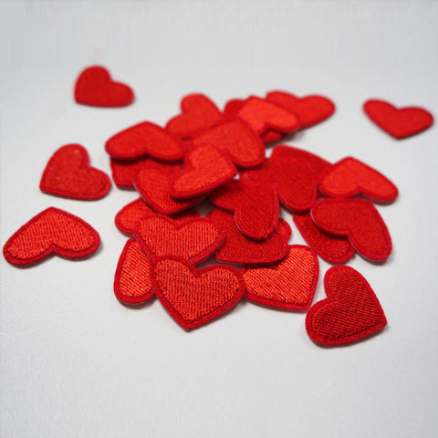 10pcs Love Red Heart Patch