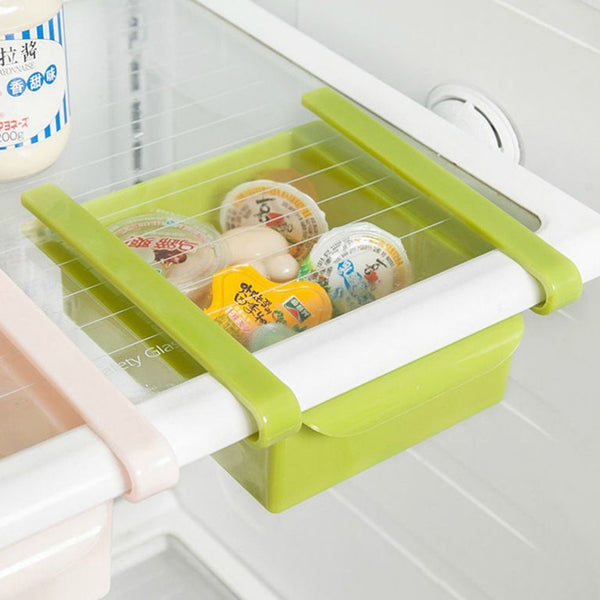 Slide Kitchen Fridge Freezer Space Storage Rack Bathroom Shelf