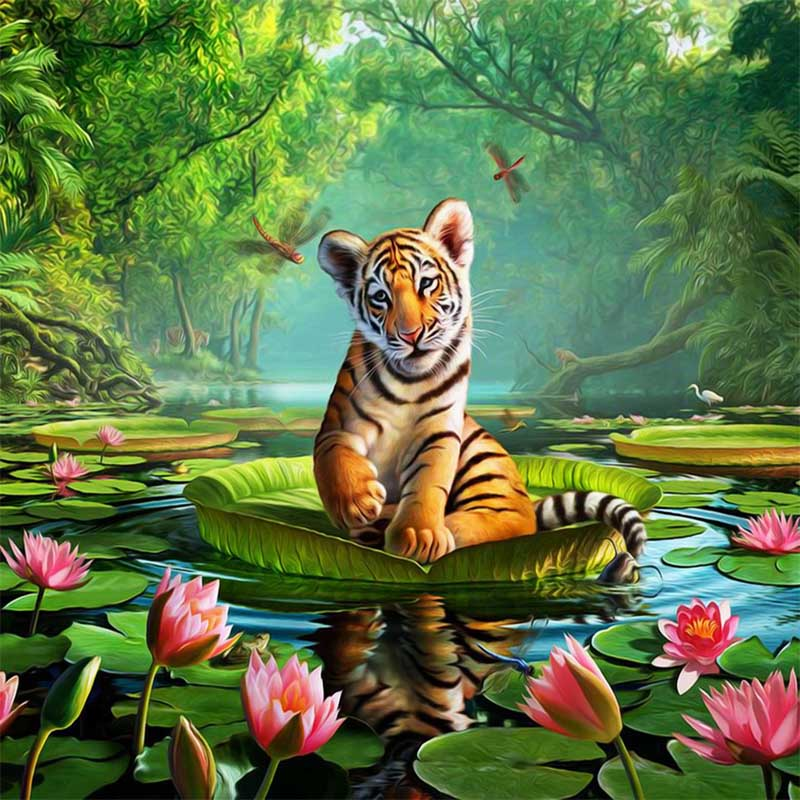 5D Diamond Painting Cartoon Animal Picture