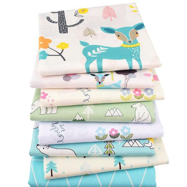 "8Pcs Twill Fabric (""16 x 20"") Polar Bear and Dear Series"