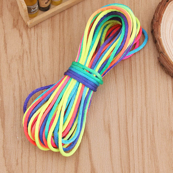 "10 yards Satin Cord Rainbow 2MM (0.08"")"