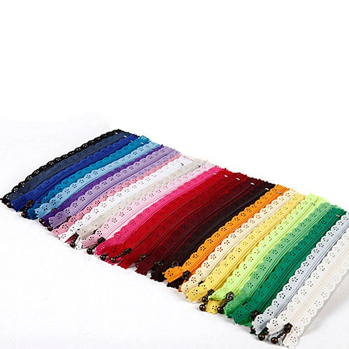 10 pcs Lace Zipper Bud Silk Nylon