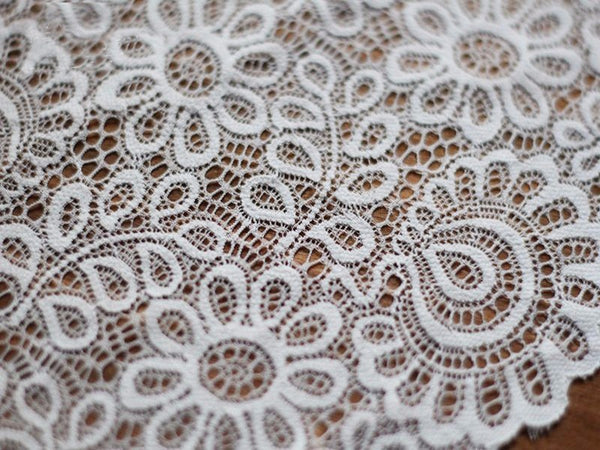 "3Yards 9""  Black White Lace Fabric"