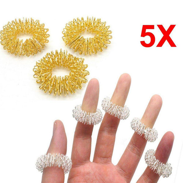 ACUPRESSURE RINGS 5 PIECES