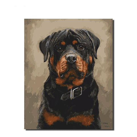 Hound Painting By Numbers Modern Home Wall Art Dog