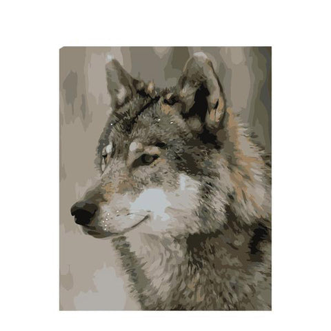 Wolf Painting By Numbers Animal