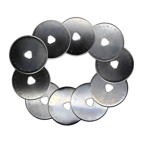 10pcs 45MM Rotary Cutter Refill Blades For Olfa Fiskars Cutter