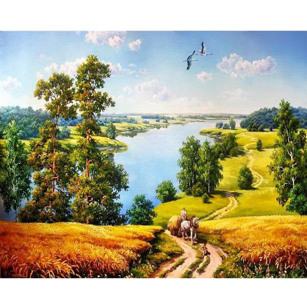 Autumn Landscape Painting By Numbers