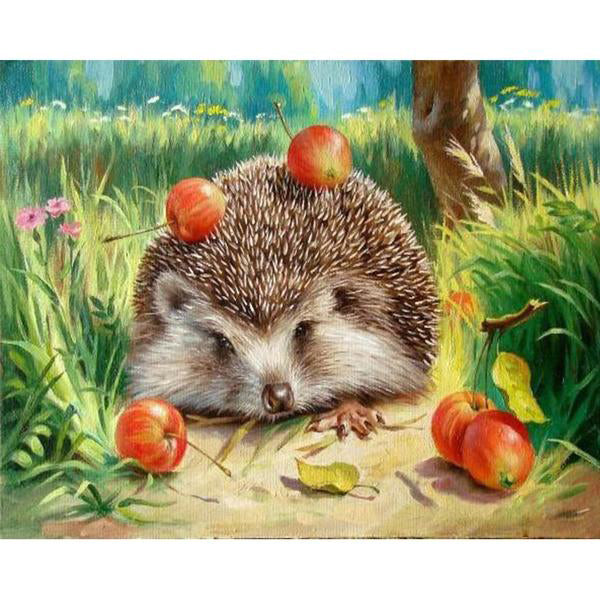 Frame Hedgehog Painting By Numbers