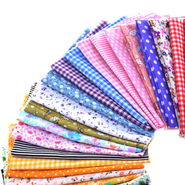 "30 pcs Cotton Fabric Patchwork Bundle Multi-Color 4""X4"""