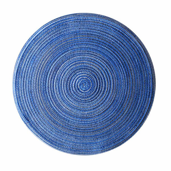 Round Design Table Ramie Insulation Pad Solid Placemats