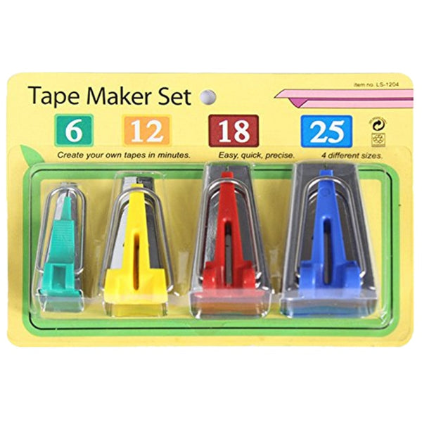 Set Of 4 Size Fabric Bias Tape Makers