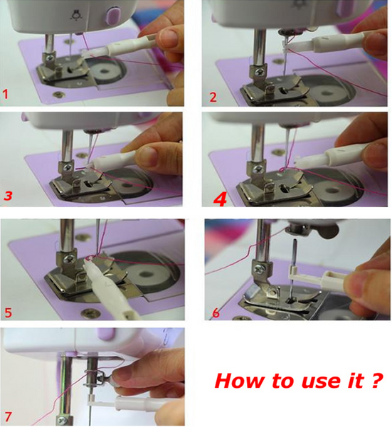 Automatic Sewing Machine Needle Threader