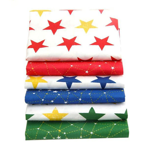 "6 Pieces Cotton Fabric (16"" x 20"") Star and Constellation Series"