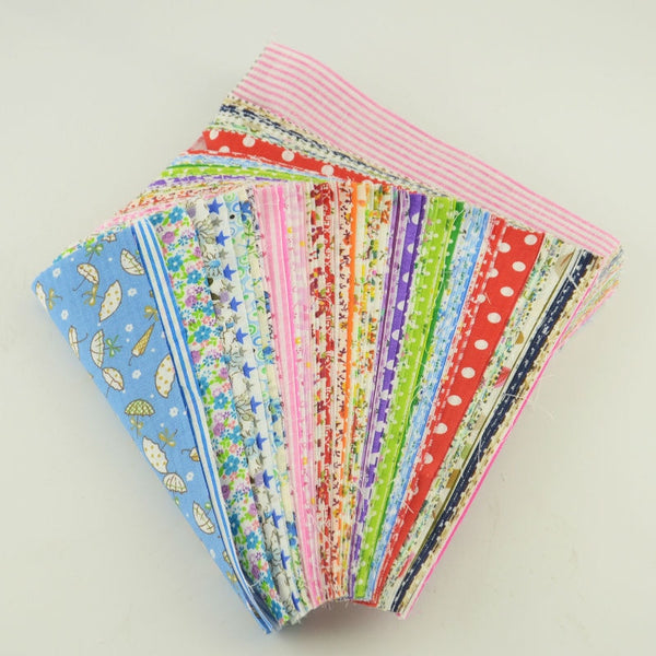 "50 pcs Cotton Twill Fabric (4"" x 5"") Random Color Materials"