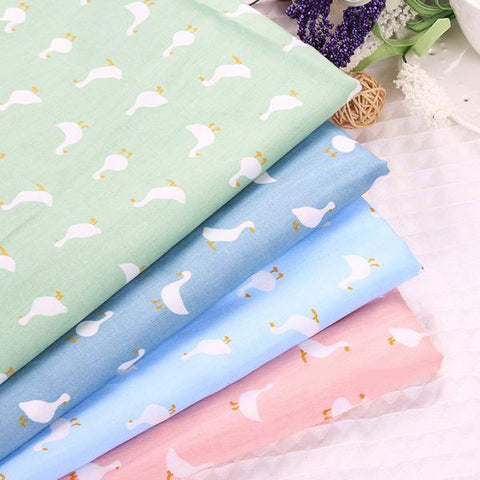 "4 pcs Cotton Fabric (16"" x 20"") Swan Collection"