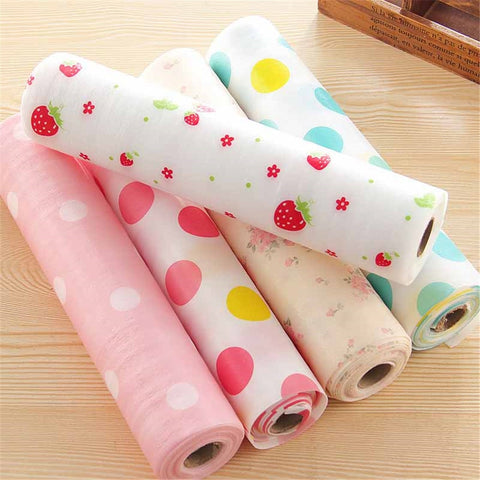 Waterproof Drawer Paper Plastic Printed Wallpaper Colorful Mat