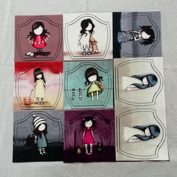Gorjuss Girl Positioning Fabric Cotton